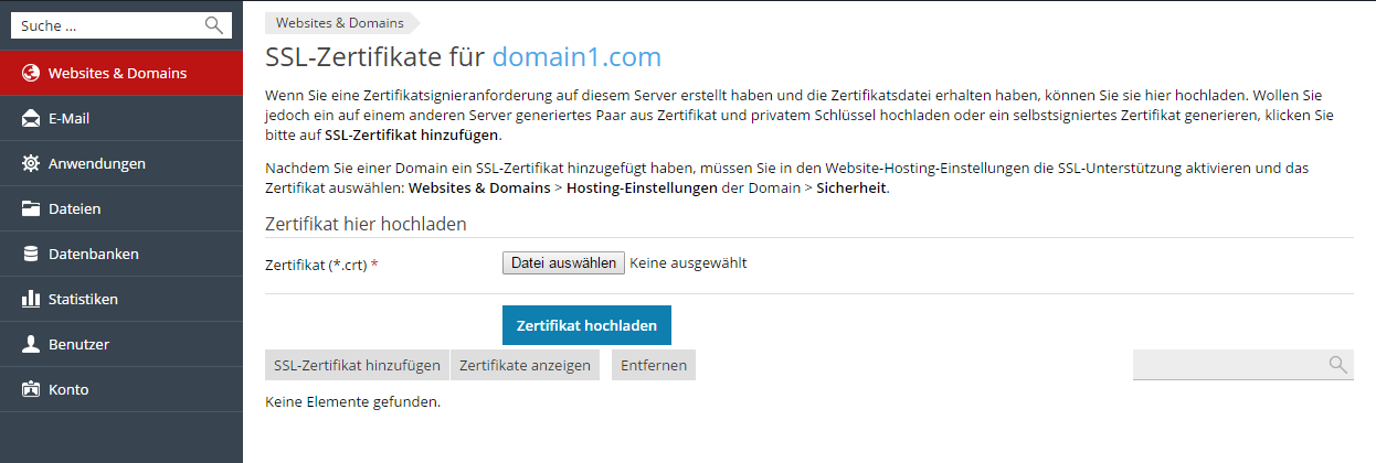 Sichern von Verbindungen mit SSL-Zertifikaten