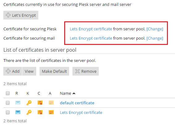 Sichere Verbindung mit Plesk und dem Mailserver mithilfe von SSL/TLS ...