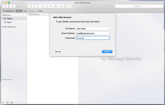how to set up mail on mac os x