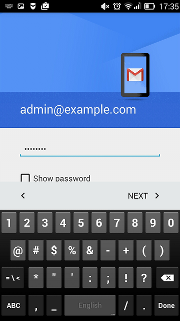 Access from Gmail on Android