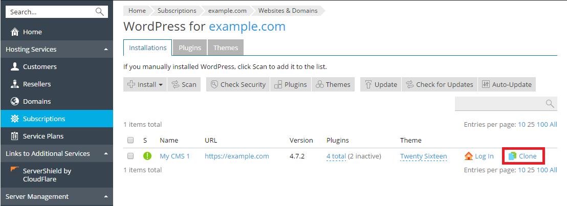 Klone et WordPress-nettsted 2