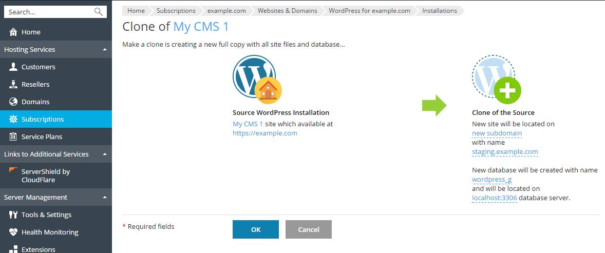 Klone et WordPress-nettsted 3
