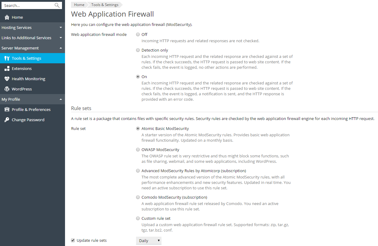 Web Application Firewall (ModSecurity)