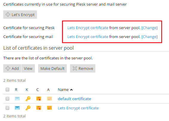 Securing Plesk and the Mail Server With SSL/TLS Certificates