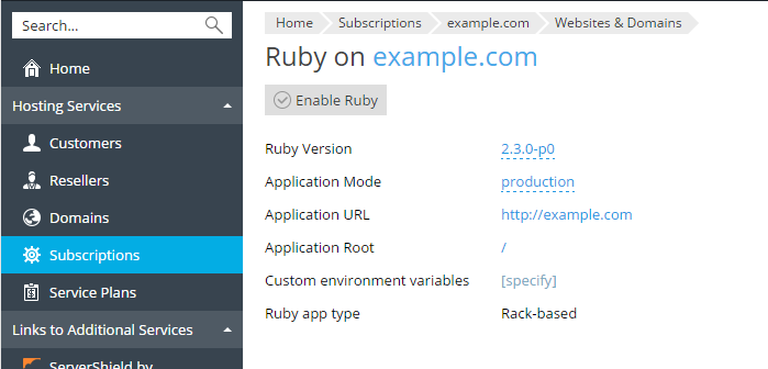 Manage Ruby Applications