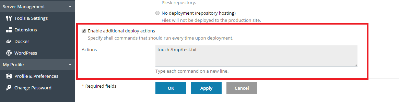 Using remote Git hosting