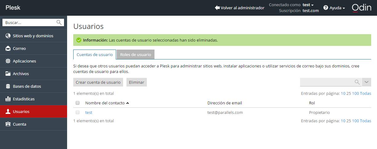 Administración de cuentas de usuario adicionales