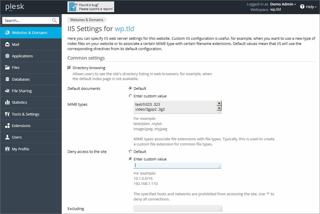 Servidor web IIS (Windows)