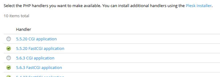 Configuración de los controladores de PHP