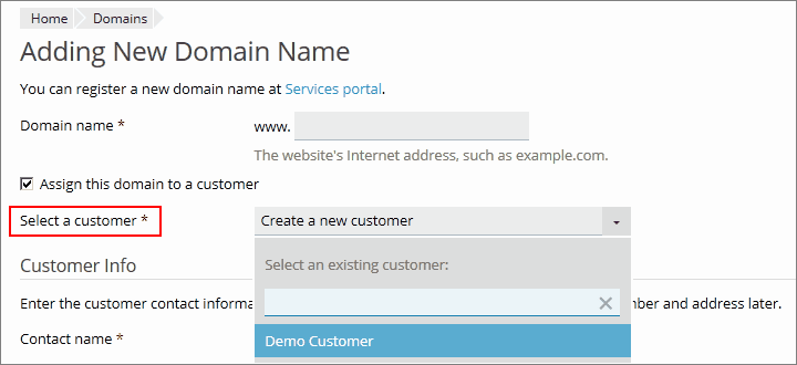adding_domain_for_customer